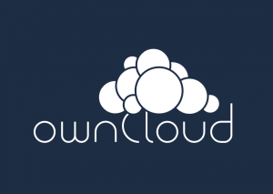 ownCloud logo with background